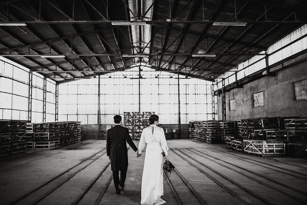 Alvaro y Sara. Boda industrial en La Estación. The Creative Shot